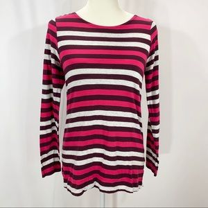 Pink and maroon Motherhood Maternity striped top